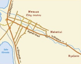 Sketch maps Affordable private apartments in Mwanza